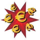 евро иллюстрация штока