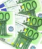 евро bancknotes Стоковое фото RF
