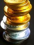 евро coins4 Стоковые Изображения RF