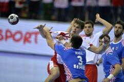 ЕВРО EHF Польша 2016 Хорватия Стоковое Фото