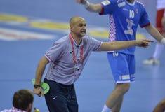 ЕВРО EHF Польша 2016 Хорватия Стоковое Изображение RF
