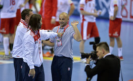 ЕВРО EHF Польша 2016 Хорватия Стоковое Изображение