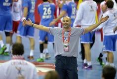 ЕВРО EHF Польша 2016 Хорватия Стоковая Фотография RF