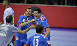 ЕВРО EHF Польша 2016 Хорватия Стоковые Фото