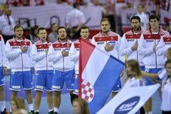 ЕВРО EHF Польша 2016 Хорватия Стоковые Изображения RF