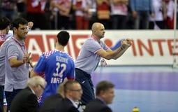 ЕВРО EHF Польша 2016 Хорватия Стоковая Фотография