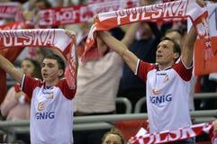 ЕВРО EHF Польша 2016 Хорватия Стоковое фото RF