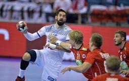 ЕВРО EHF Франция 2016 Норвегия Стоковое Изображение