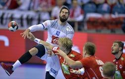 ЕВРО EHF Франция 2016 Норвегия Стоковые Изображения RF