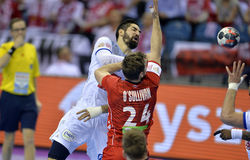 ЕВРО EHF Франция 2016 Норвегия Стоковые Изображения