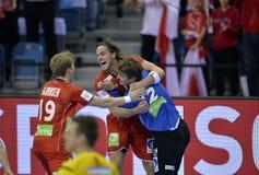 ЕВРО EHF Франция 2016 Норвегия Стоковые Фотографии RF