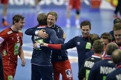 ЕВРО EHF Франция 2016 Норвегия Стоковая Фотография RF