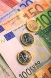евро monay Стоковое Изображение