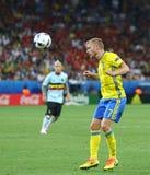 ЕВРО 2016 UEFA: Швеция v Бельгия Стоковые Изображения RF