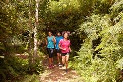 2 девушек бежать мальчика и Стоковые Фотографии RF