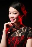 девушка азиата близкая вверх стоковые изображения rf