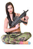 девушка армии красивейшая стоковая фотография