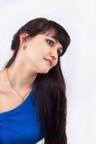 Девушка в сини Стоковые Фотографии RF