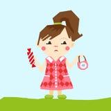 девушка Влияние отрезано с ножницами бесплатная иллюстрация