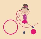 девушка гимнастическая иллюстрация вектора