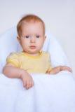 девушка глаз сини младенца милая Стоковое Изображение RF