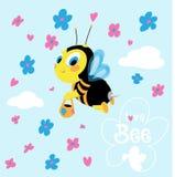 девушка летания costume пчелы малая Стоковые Изображения RF