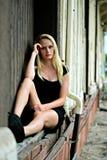 девушка задумчивая Стоковое фото RF