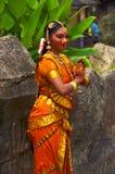 девушка индусская Стоковое Фото