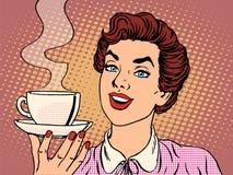 девушка кофейной чашки иллюстрация штока