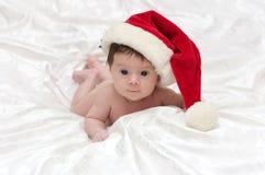 девушка маленький santa Стоковое Фото