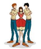 девушка 2 мальчиков бесплатная иллюстрация