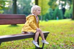 девушка меньший играть парка Стоковое фото RF