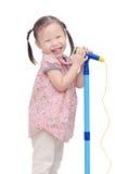 девушка меньший микрофон пея Стоковые Изображения RF