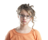 девушка меньший портрет унылый Стоковое Фото