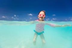 девушка меньшяя каникула Стоковая Фотография
