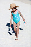 девушка меньшяя каникула Стоковые Фотографии RF