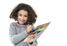 девушка меньшяя палитра стоковое изображение
