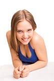девушка над представлять белизну Стоковые Изображения RF