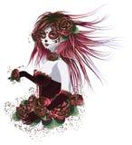 девушка дня мертвая бесплатная иллюстрация
