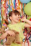 девушка дня рождения меньшяя партия Стоковое фото RF