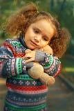 девушка осени меньший парк Стоковое Фото