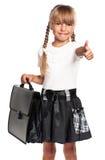 девушка портфеля немногая Стоковое Изображение RF