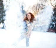 девушка пущи снежная Стоковое Изображение RF