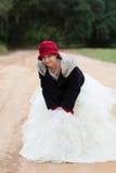 девушка платья играя вверх Стоковая Фотография