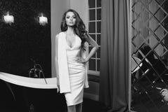 девушка платья сексуальная Стоковое фото RF