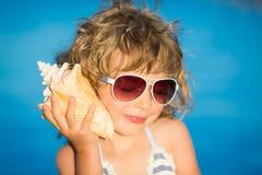девушка пляжа красивейшая Стоковая Фотография