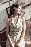 девушка ретро Стоковая Фотография RF