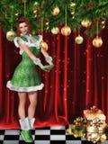 девушка рождества красотки составляет бесплатная иллюстрация
