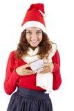 девушка рождества 3 довольно Стоковые Фотографии RF