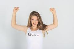 девушка сильная Стоковые Фотографии RF